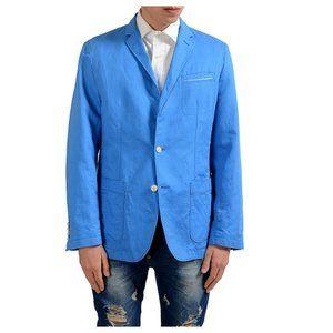 Boss Hugo Boss Linen Blend Regular Fit Blue Blazer